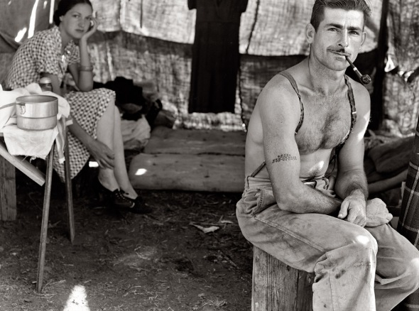 Lumber worker and wife. 1939.