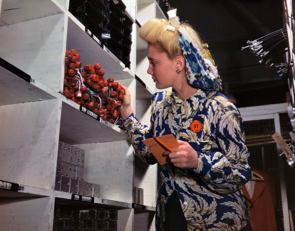 WWII Aviation plant clerk. 1942.