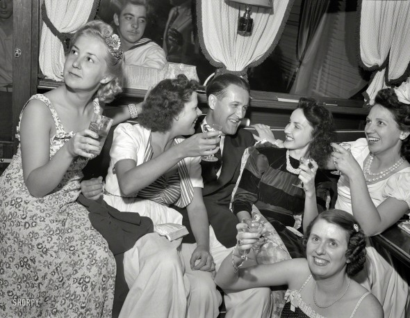 Detroit Yacht Club, Venetian Night Party. 1940.