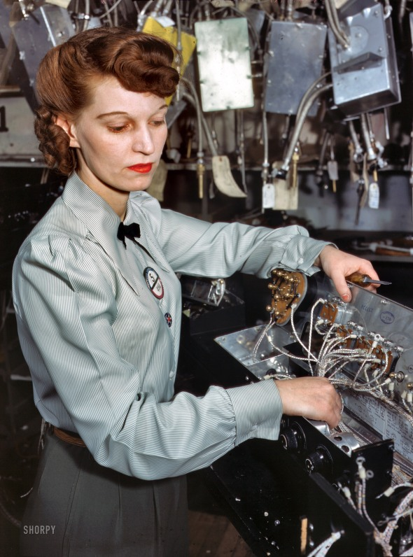 Goodyear Aircraft Corp. employee. 1941.