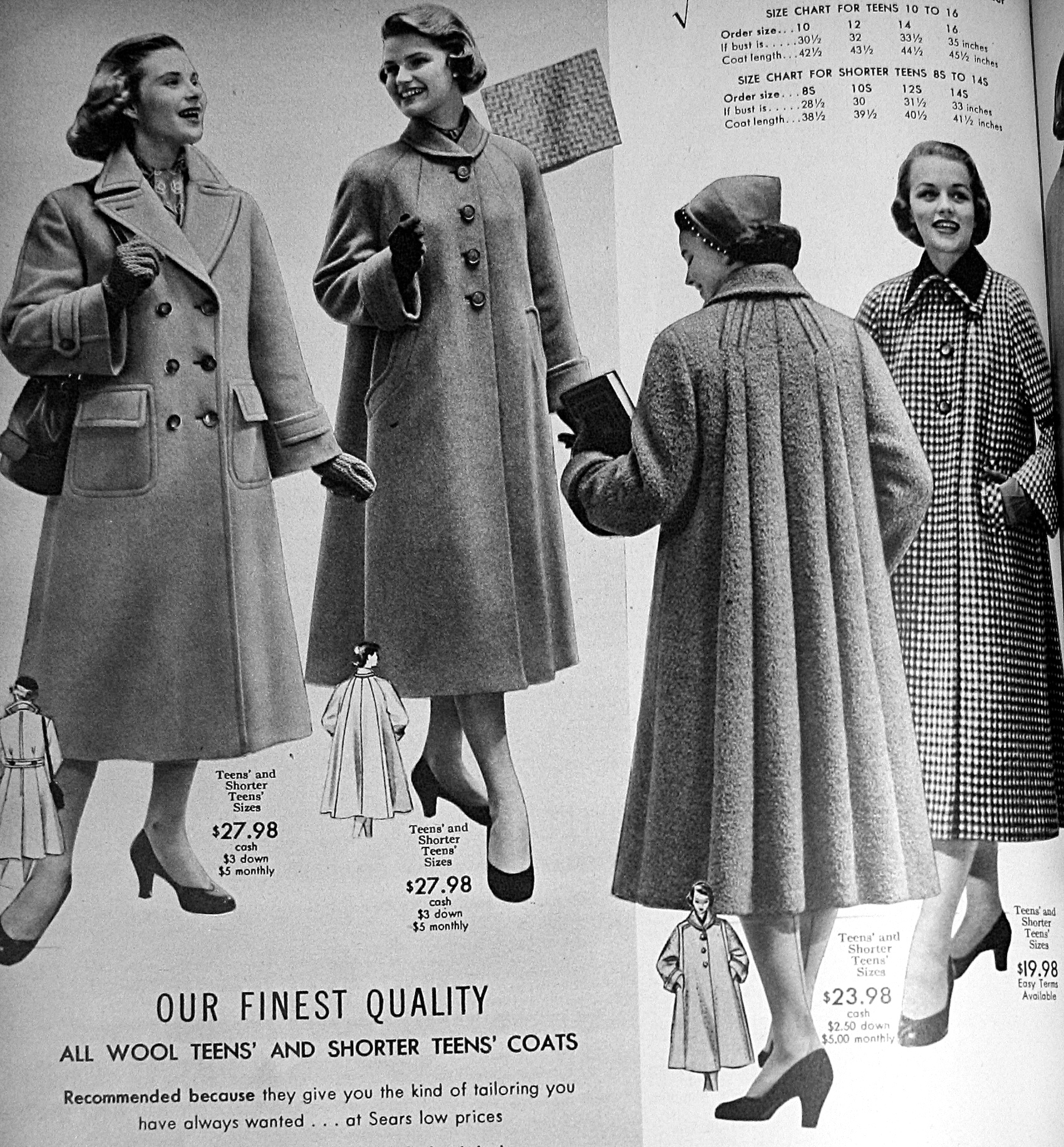 Old Fashioned House Winter Fashions Of 1954 Sears Style Vintage Lovin Gal