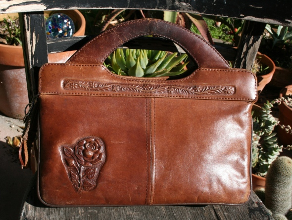 tooled leather purse (back)