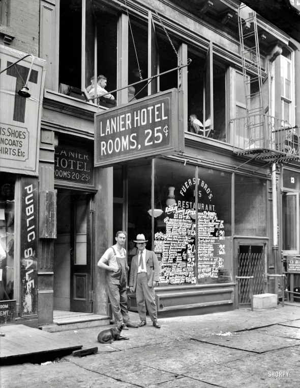 Lanier Hotel, New York. 1921.