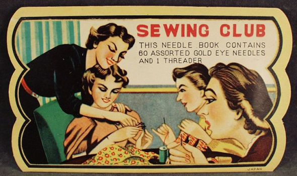 Ohhh...who wants to start a Sewing Club?? We'll all have cool hair and sew pretty things!