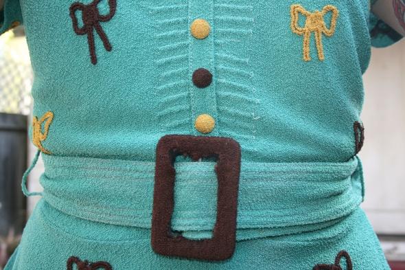 vintage bow blouse belt