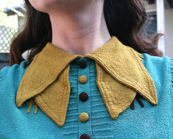 vintage bow blouse collar