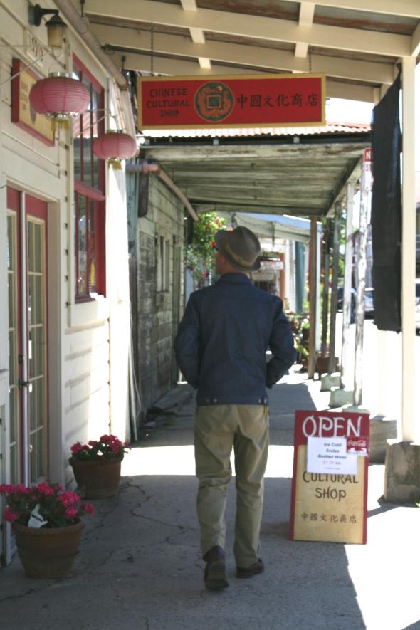 Derek, strolling the streets