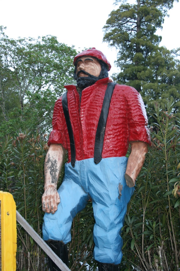 one armed lumberjack...he was huge!
