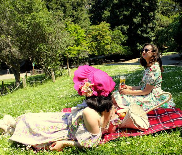 tina & mary picnic