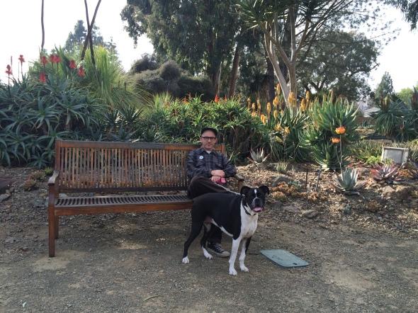 Herby and Derek rest in the Ruth Bancroft Garden
